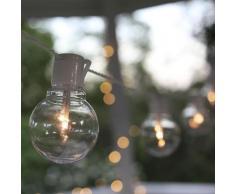 PARTY BALLS-Guirlande LED d'extérieur 16 Ampoules L9,5m Blanc Best Season