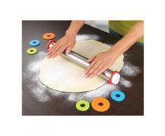 Rouleau à pâtisserie inox avec disques ajustables Maximex