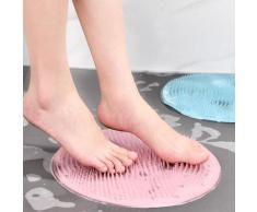 Coussin de Massage de bain en Silicone, brosse ronde de 31cm pour paresseux, lavage des pieds,