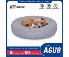 DEKO – lit pour chien et chat, niche ronde Super douce, moelleux, maison, coussin de couchage chaud