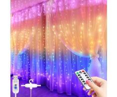 Rideau lumineux féerique à LED, 3M, avec télécommande, USB, guirlande lumineuse pour nouvel an,
