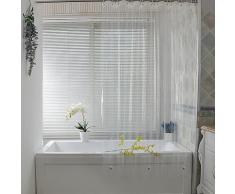 Rideau de douche en plastique blanc, Transparent, imperméable, pour salle de bain, moisissure, PEVA,