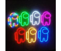 Applique murale LED en néon avec signe d'astronaute, luminaire décoratif d'intérieur, idéal comme
