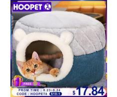 HOOPET – lit doux en peluche pour chat, niche, coussin pour chiot, petit chien, nid d'hiver chaud,
