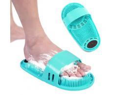 Coussin de Massage de bain en Silicone, brosse pour paresseux, lavage des pieds, nettoyer la peau