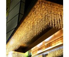 Rideau lumineux LED pour noël, 5M, 0.4-0.6m, lumière féerique décorative, imperméable, pour