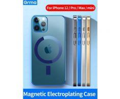 Grma Mag – coque de téléphone Apple pour iPhone 12 13 Pro Max 12, étui de protection magnétique