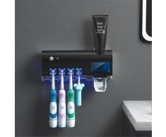 UOSU – porte-brosse à dents UV, distributeur de dentifrice, énergie solaire, boîte de rangement de