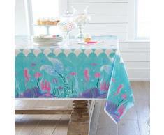 Nappe jetable en forme de sirène, 137x213cm, couverture de Table avec flamand rose, décor pour fête