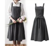 Tablier de fleuriste nordique Simple, en coton et lin, pour le jardinage, les cafés, la cuisine, les