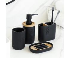 Ensemble d'accessoires de salle de bain, distributeur de Lotion de savon, porte-brosse à dents,