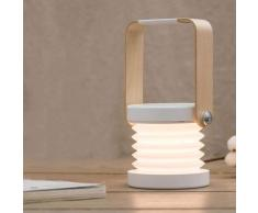 Lanterne télescopique pliable avec poignée en bois pour table, lampe idéale pour lire, design