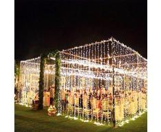 Guirlande lumineuse rideau LED 2M 6M 10M x 3M, décoration de noël, salle de mariage, vacances,