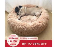 Sac de couchage rond Super doux pour animaux de compagnie, niche pour chien et chat, sac de couchage