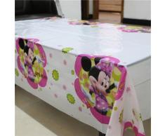 Nappe à thème Minnie Mouse pour enfants, décoration de fête d'anniversaire, couverture de Table,