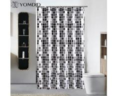 Rideau de douche étanche avec 12 crochets mosaïque imprimé rideaux de salle de bain Polyester tissu