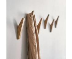 Porte-vêtements en bois naturel, crochet mural décoratif, porte-clé, chapeau, écharpe, sac à main,