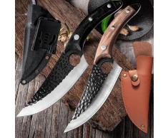Couteau à désosser de Chef de cuisine en acier inoxydable fait à la main, couteau de pêche, couperet
