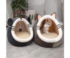 Lit chaud et doux pour chat et chien, accessoire d'hiver pour animal domestique, grotte, niche,