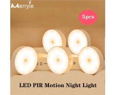 Applique murale LED avec capteur infrarouge PIR, 700mah, Recharge USB, 8 lampes, idéale pour une