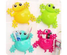 Porte-brosse à dents avec motifs d'animaux de dessin animé, ensemble d'accessoires de salle de bain,