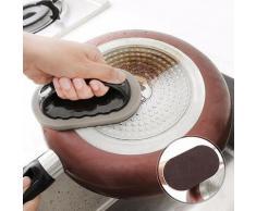Brosse éponge de cuisine, outil de nettoyage ménager, couteau à détartrage, nettoyeur de casseroles,