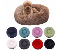 Lit rond et confortable pour chien et chat, niche Ultra douce et lavable, coussin chaud pour