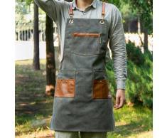 Tabliers de cuisine en toile à la mode pour femmes et hommes, tablier de travail de Chef pour Grill