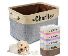 Bac de rangement en toile pour jouets de chien, panier de rangement pliable, boîte de rangement pour