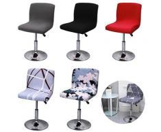 Housse de protection élastique rotative pour chaise de restaurant, tabouret de Bar extensible, Ã