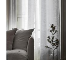 Rideau oeillets doublé occultant 350x280 cm Blanc