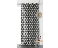 Rideau tamisant gambino coton noir 280x140
