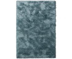 Tapis à poils longs bleu 120x170