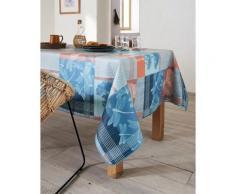 Nappe en coton enduit PVC corail 160x300 cm