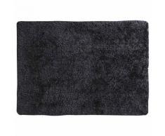 Tapis à poils longs en tissu anthracite 200 x 300 cm