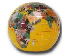 Serre livres globe terrestre en pierres fines jaune