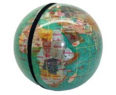 Serre livres globe terrestre en pierres fines vert