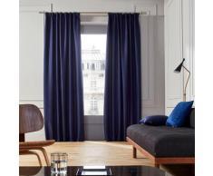 Rideau à ruban fronceur 145x280 cm Bleu nuit
