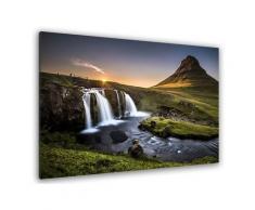 Tableau cascade o - kirkjufell islande Toile imprimée