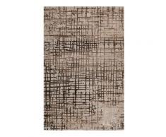 Tapis vintage à relief gris/marron 225x160