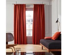 Rideau à ruban fronceur 200x280 cm Orange brique
