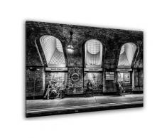 Tableau noir et blanc baker street Toile imprimée