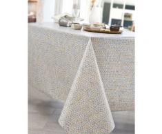 Nappe en coton enduit acrylique gris 160x300 cm