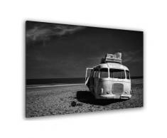 Tableau beached bus Toile imprimée