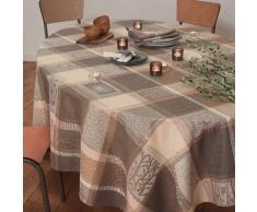 Nappe pur coton brun 180X300