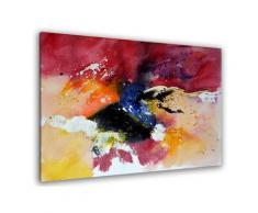 Tableau peint abstraite aquarelle Toile imprimée