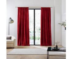 Rideau à ruban fronceur 134x280 cm Rouge