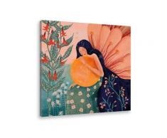 Tableau princesse aux fleurs Toile imprimée