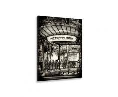 Tableau noir et blanc métropolitain paris Toile imprimée