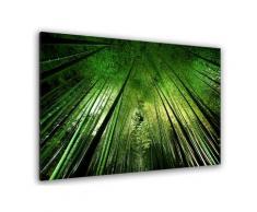 Tableau nature forêt de bambous à kyoto Toile imprimée